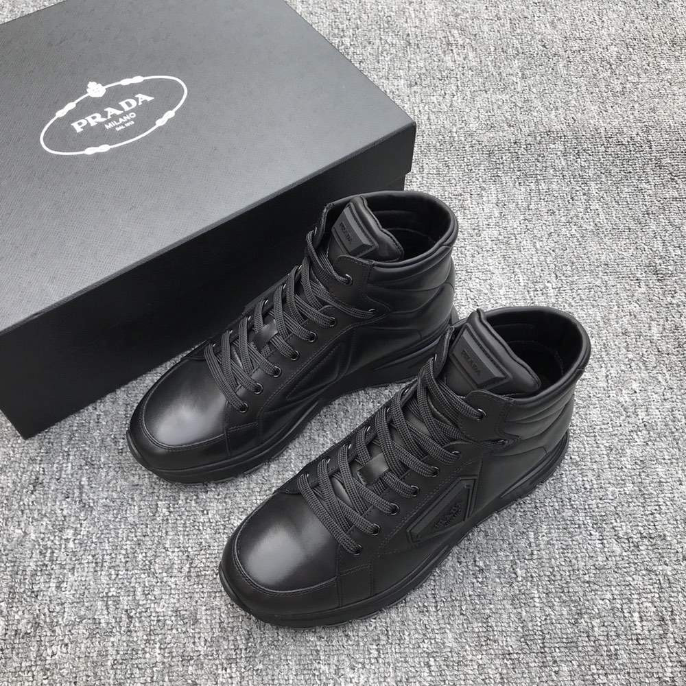 Ботинки Re-Nylon and brushed leather sneakers