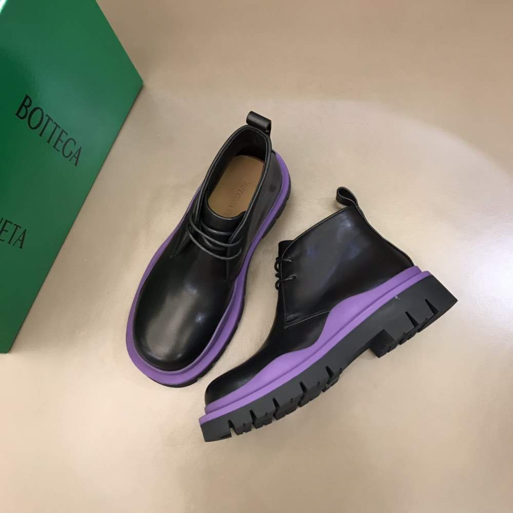 Туфли Vegetally-tanned leather lace-up shoes Purple