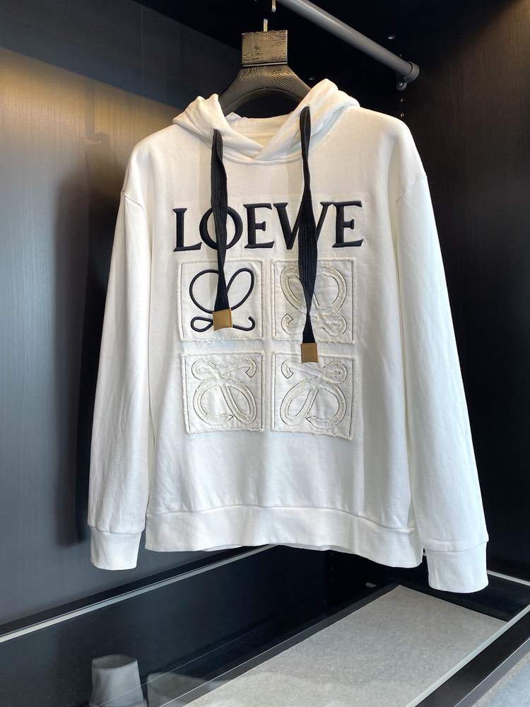 Худи Anagram embroidered hoodie in cotton White