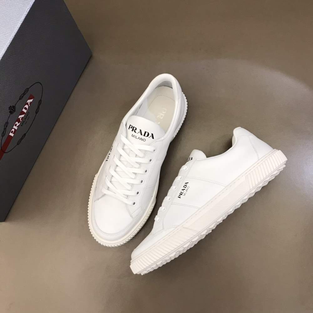 Кроссовки Leather laced sneakers White