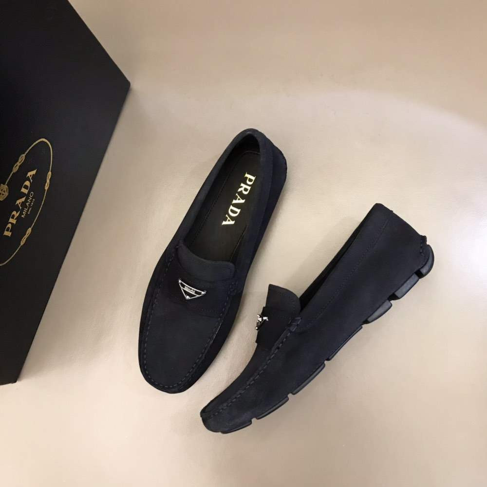 Мокасины Saffiano leather loafers Black Suede