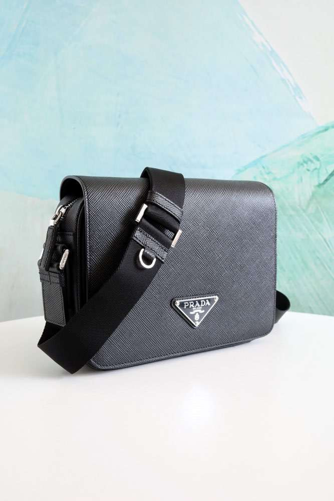Сумка Bag with Saffiano Leather Shoulder Strap