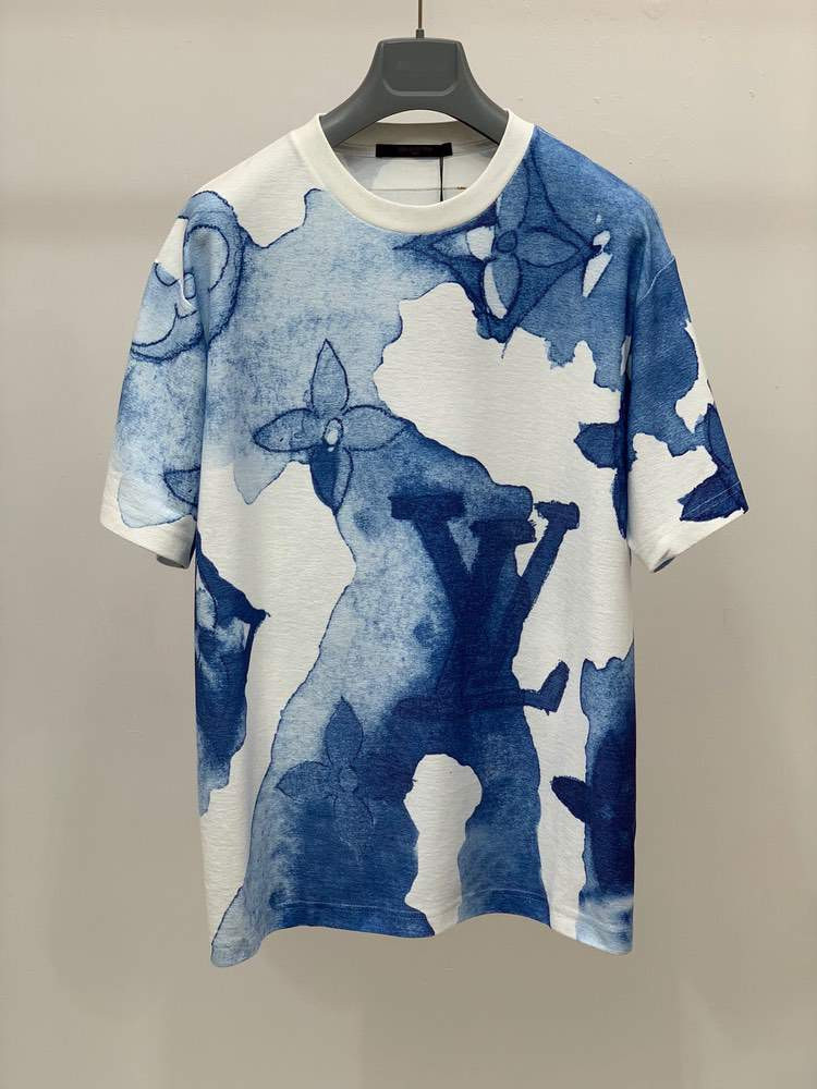 Футболка EMBROIDERED WATERCOLOR T-SHIRT Blue