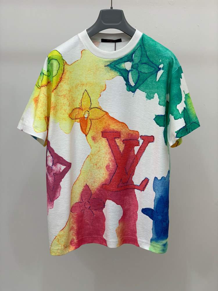 Футболка EMBROIDERED WATERCOLOR T-SHIRT Mix