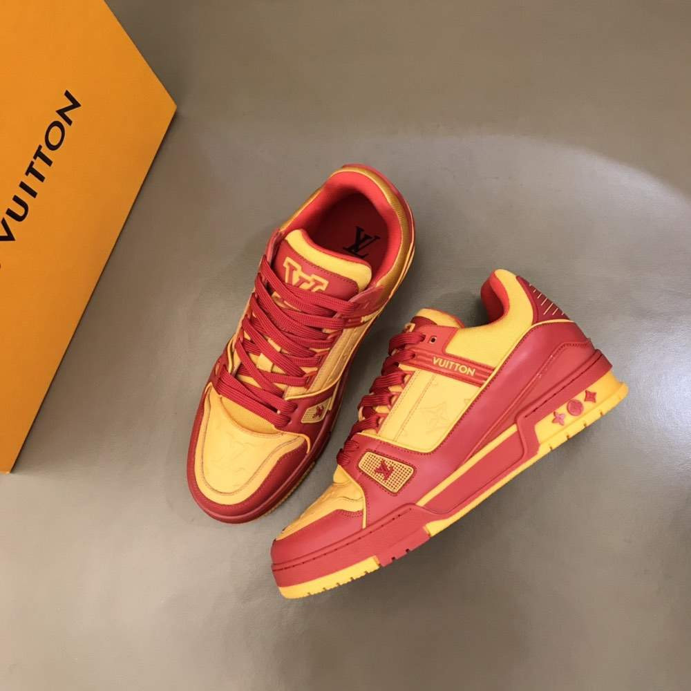 Кроссовки TRAINER SNEAKER YELLOW N RED