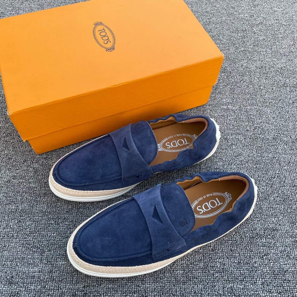 Эспадрильи LOAFERS IN SUEDE BLUE