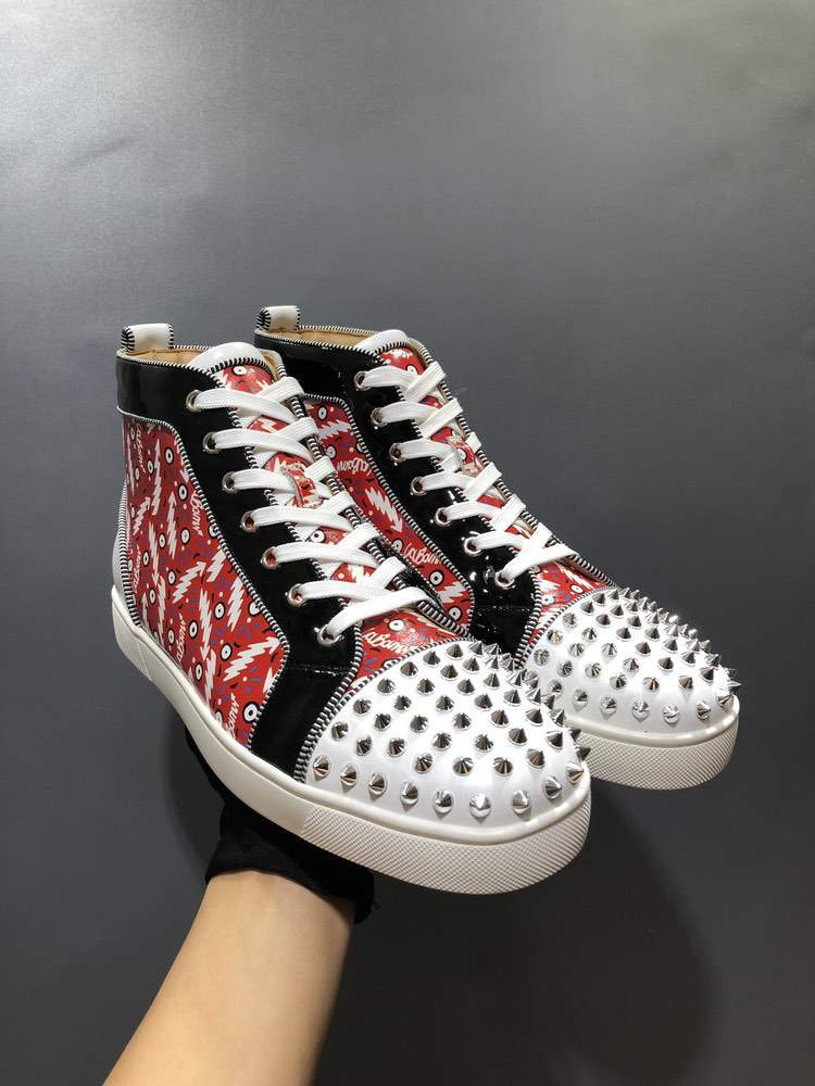 Кроссовки Louis Orlato Flat Black And Red