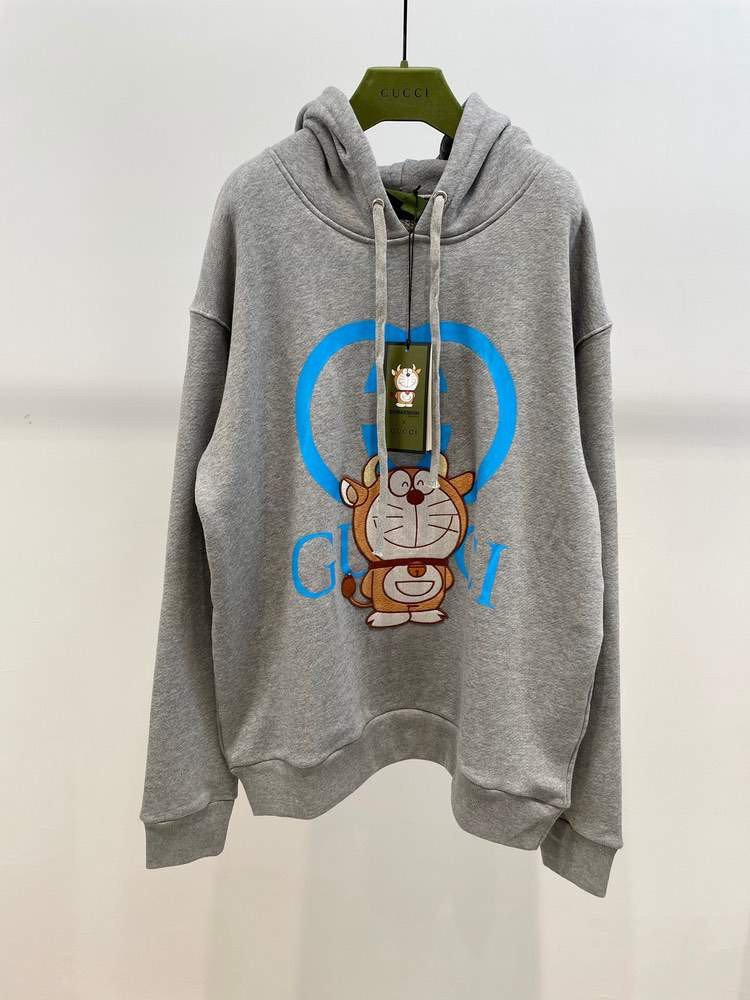 Худи Doraemon cotton sweatshirt Grey