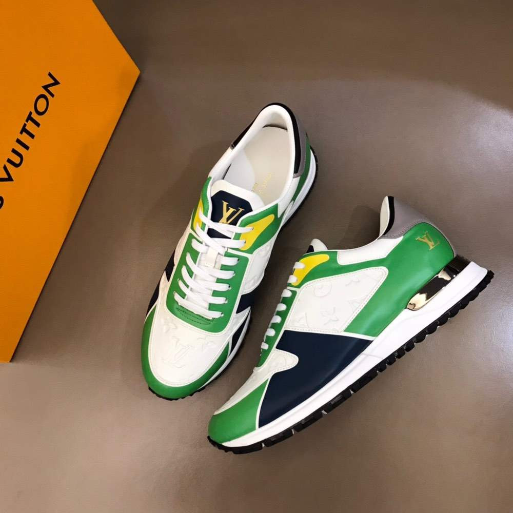 Кроссовки RUN AWAY SNEAKER WHITE AND GREEN