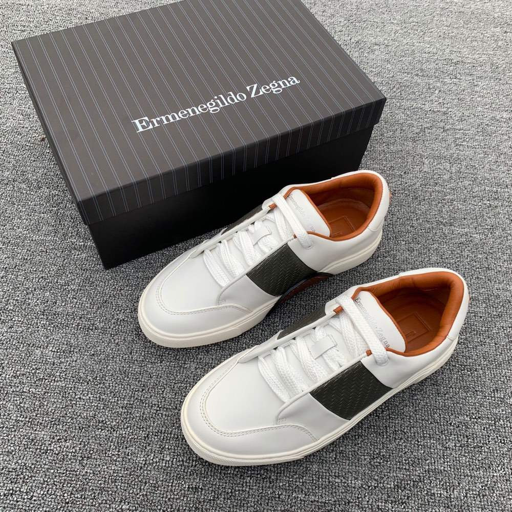 Кроссовки Smooth Calfskin Tiziano Sneakers White And Black