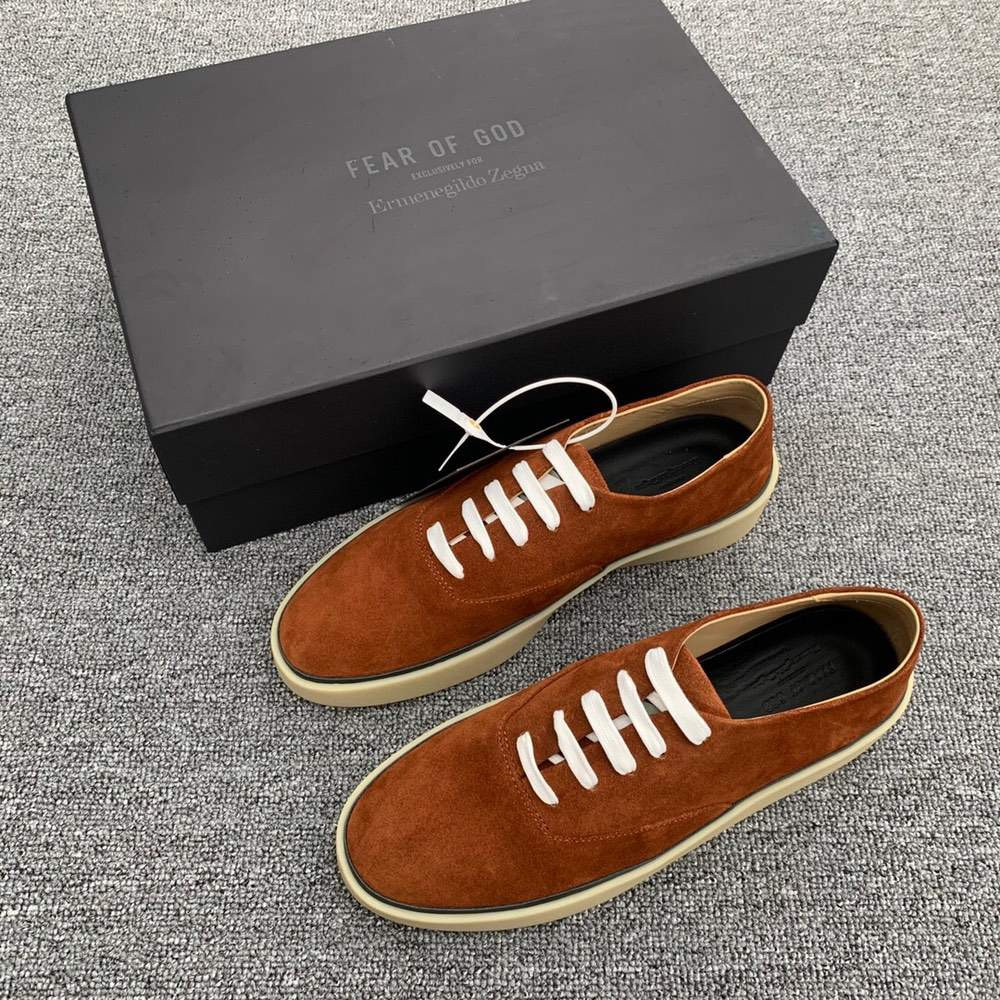Кроссовки x Zegna Suede Sneakers Brown