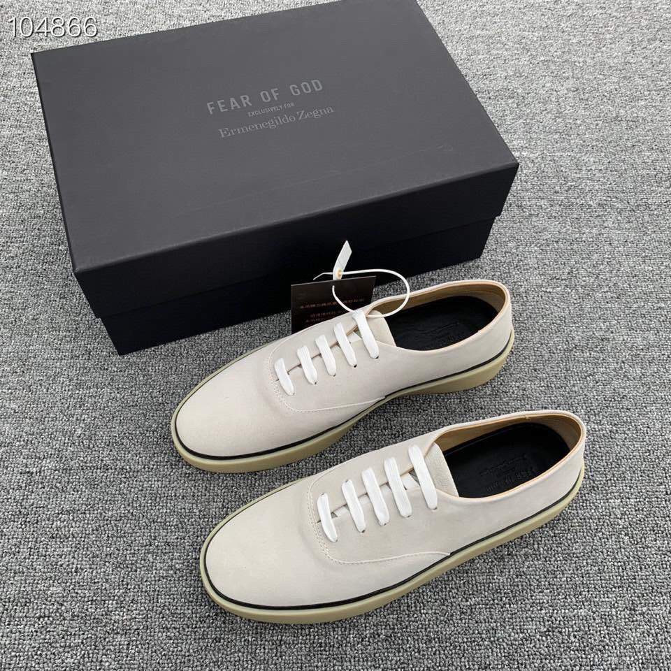 Кроссовки x Zegna Suede Sneakers White