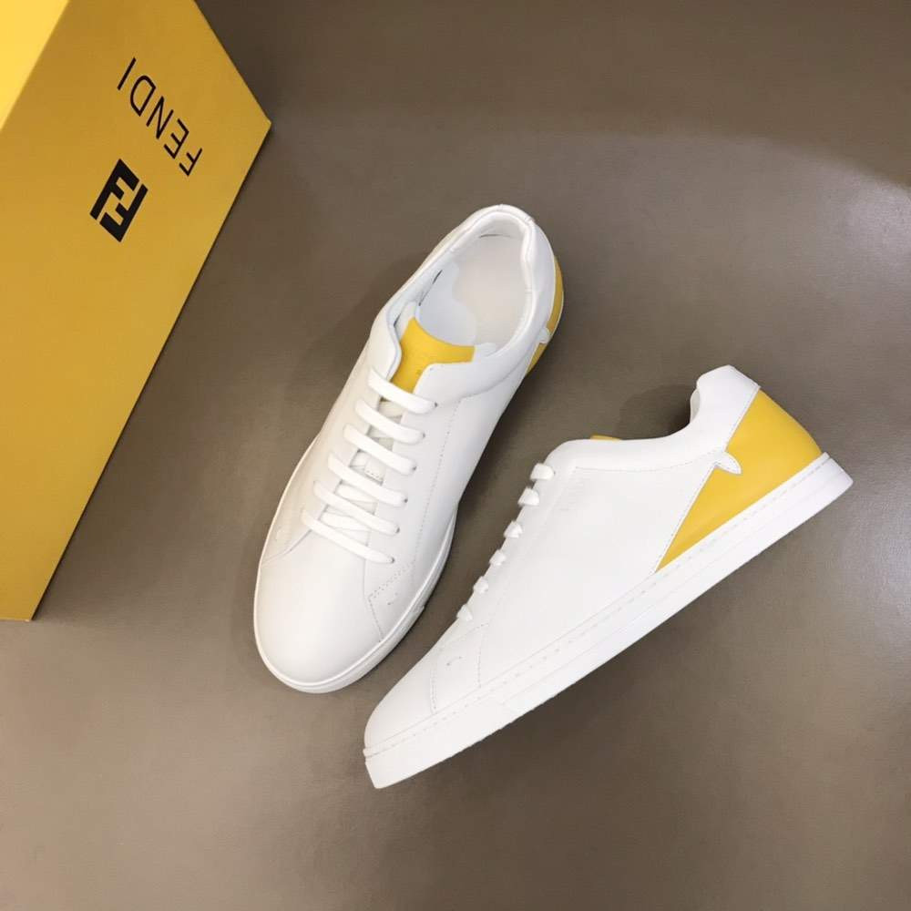 Кроссовки Leather low-tops Eye White
