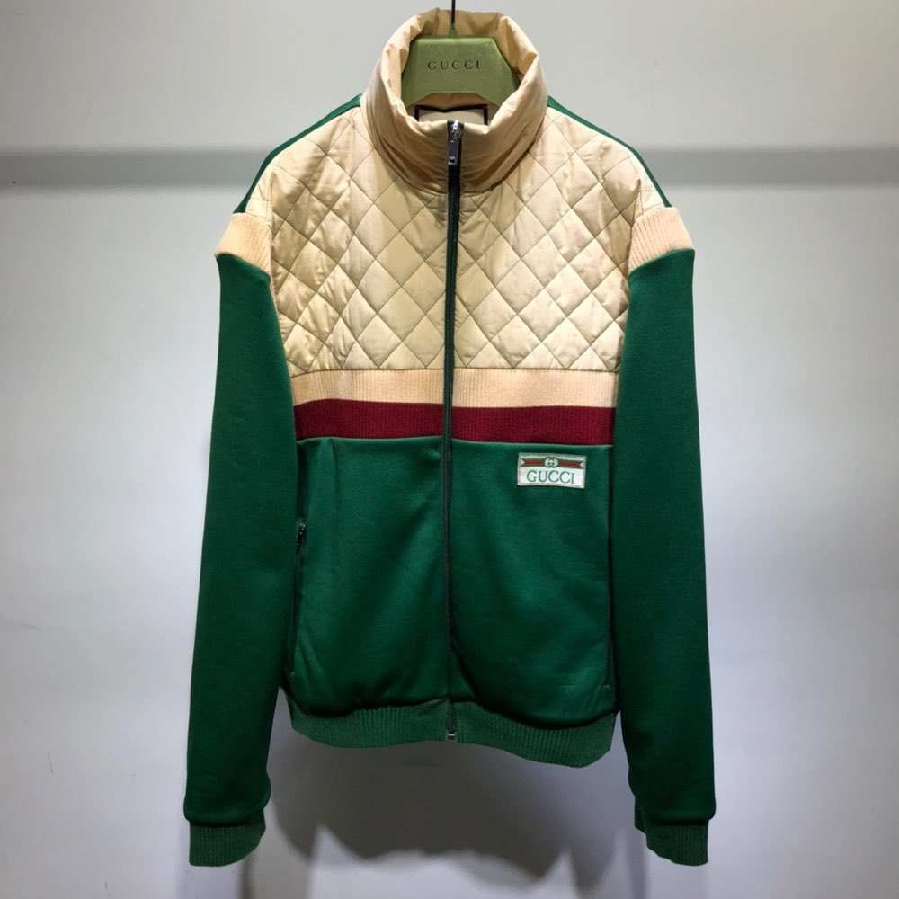 Куртка Technical jersey zip-up jacket Green