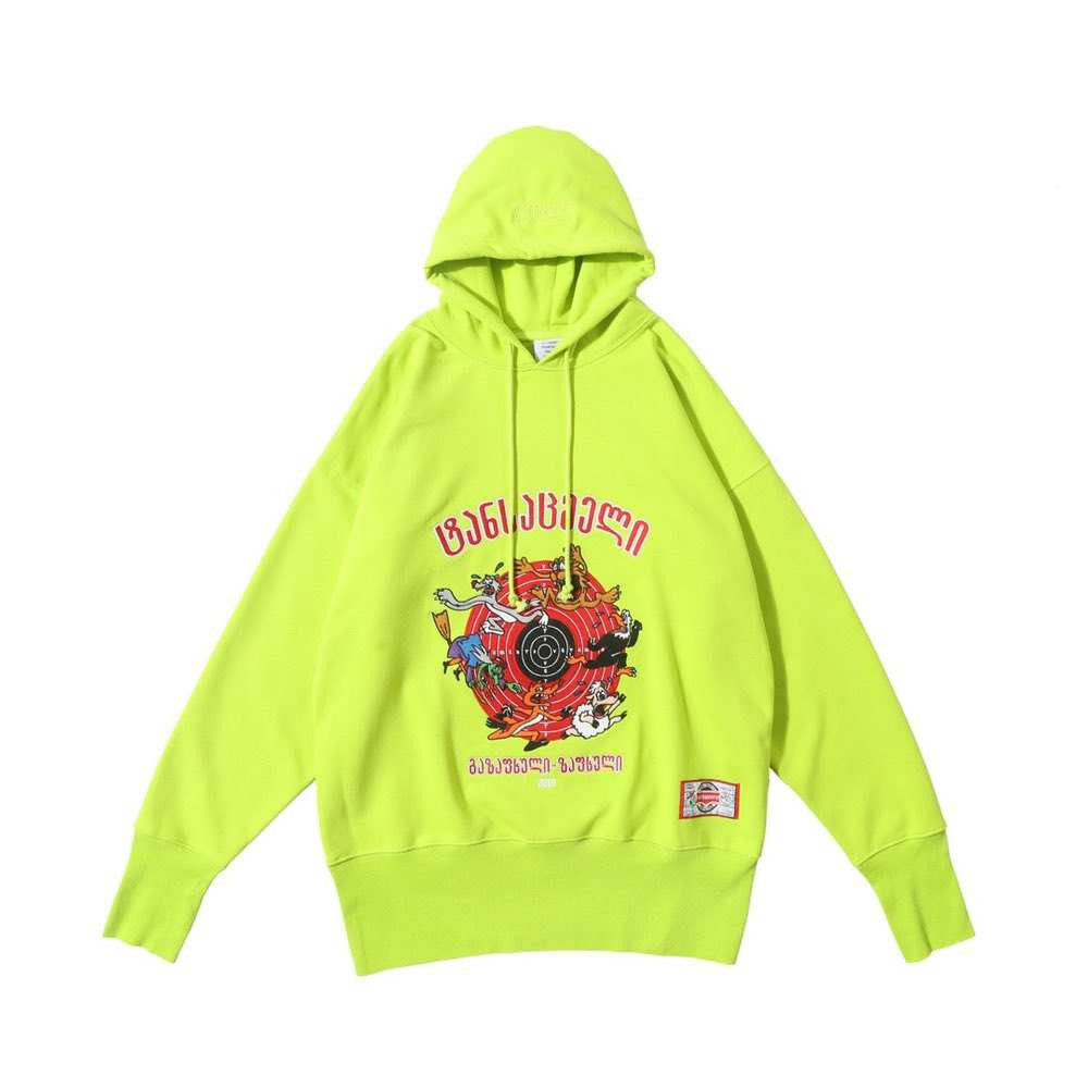 Толстовка CARTOON HOODIE GREEN