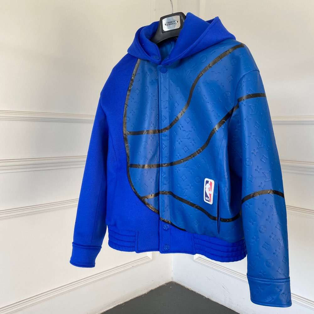 Куртка LVXNBA PLAYER LEATHER MIX JACKET