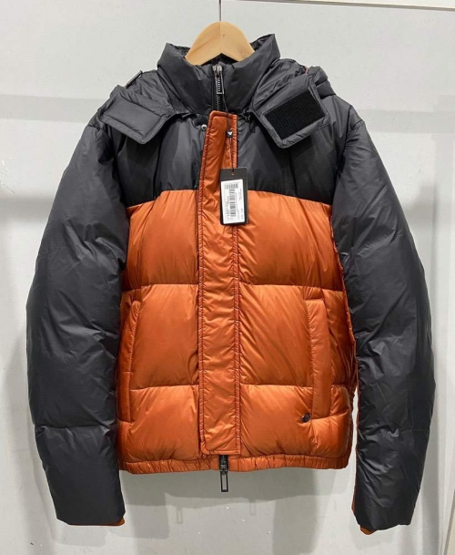 Пуховик Two-tone nylon quilted down jacket