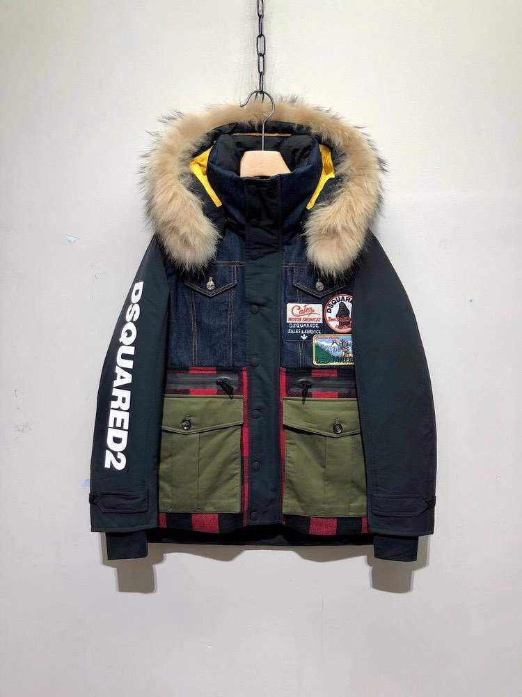 Пуховик Check Wool Layered Ski Puffer