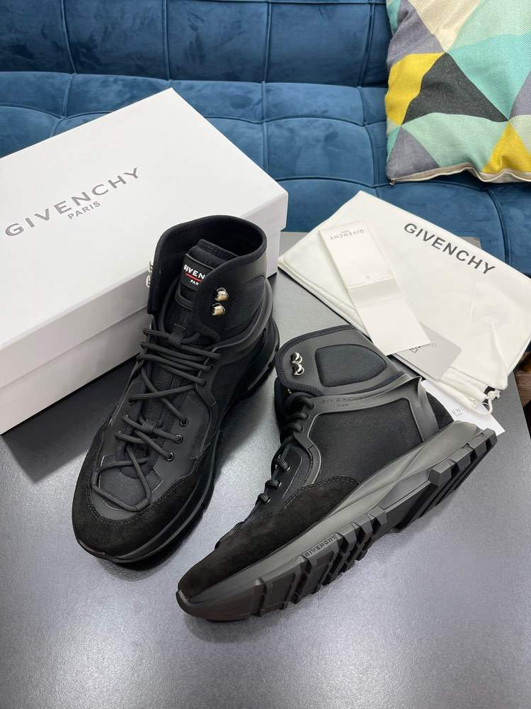 Ботинки SPECTRE HIGH RUNNERS STRUCTURED SNEAKERS Black