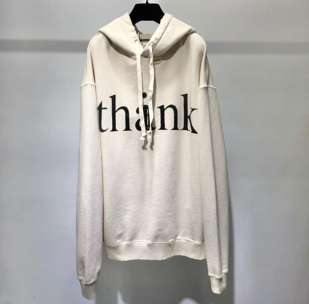 Худи think/thank print hooded sweatshirt