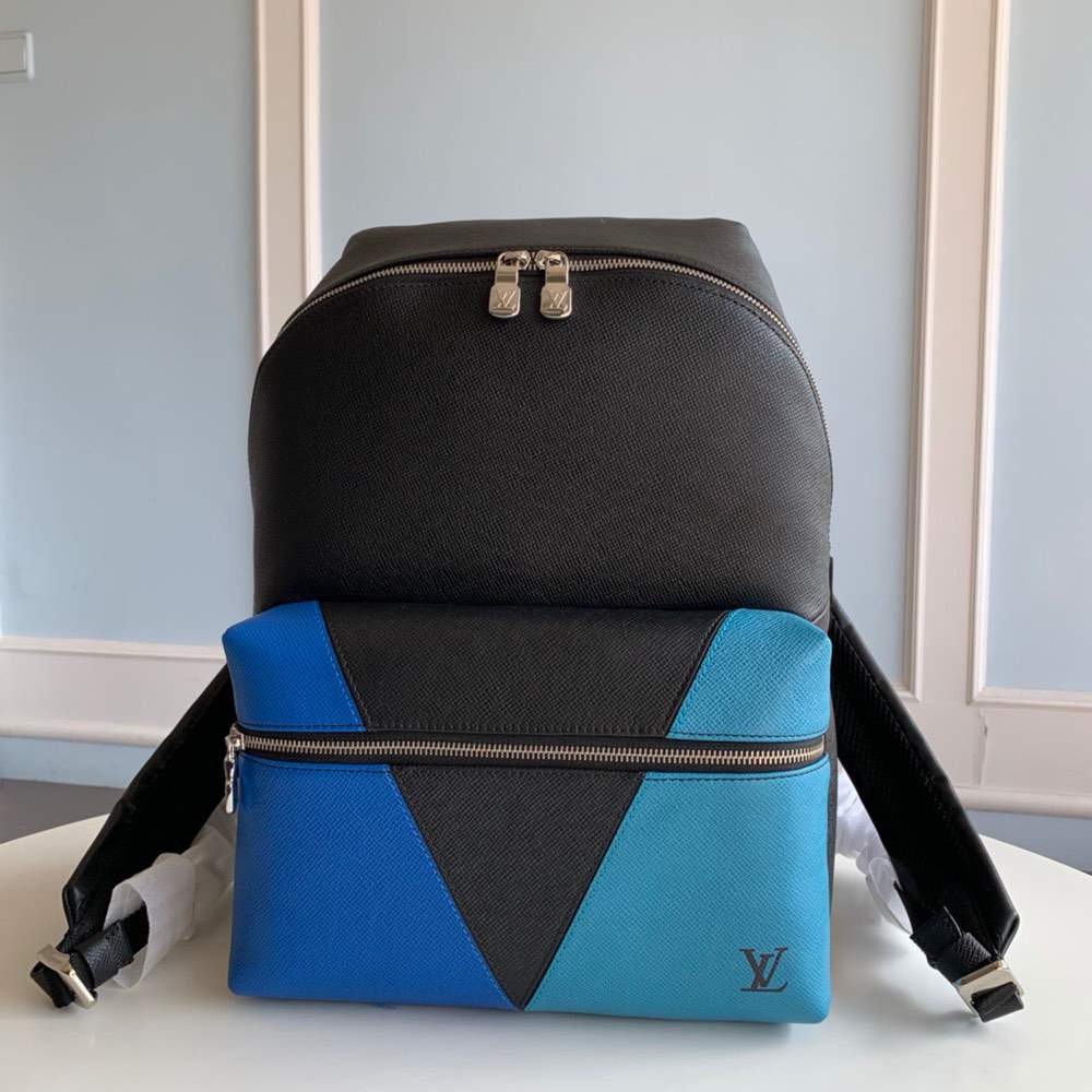 Рюкзак DISCOVERY BACKPACK Taiga Leather Black N Blue