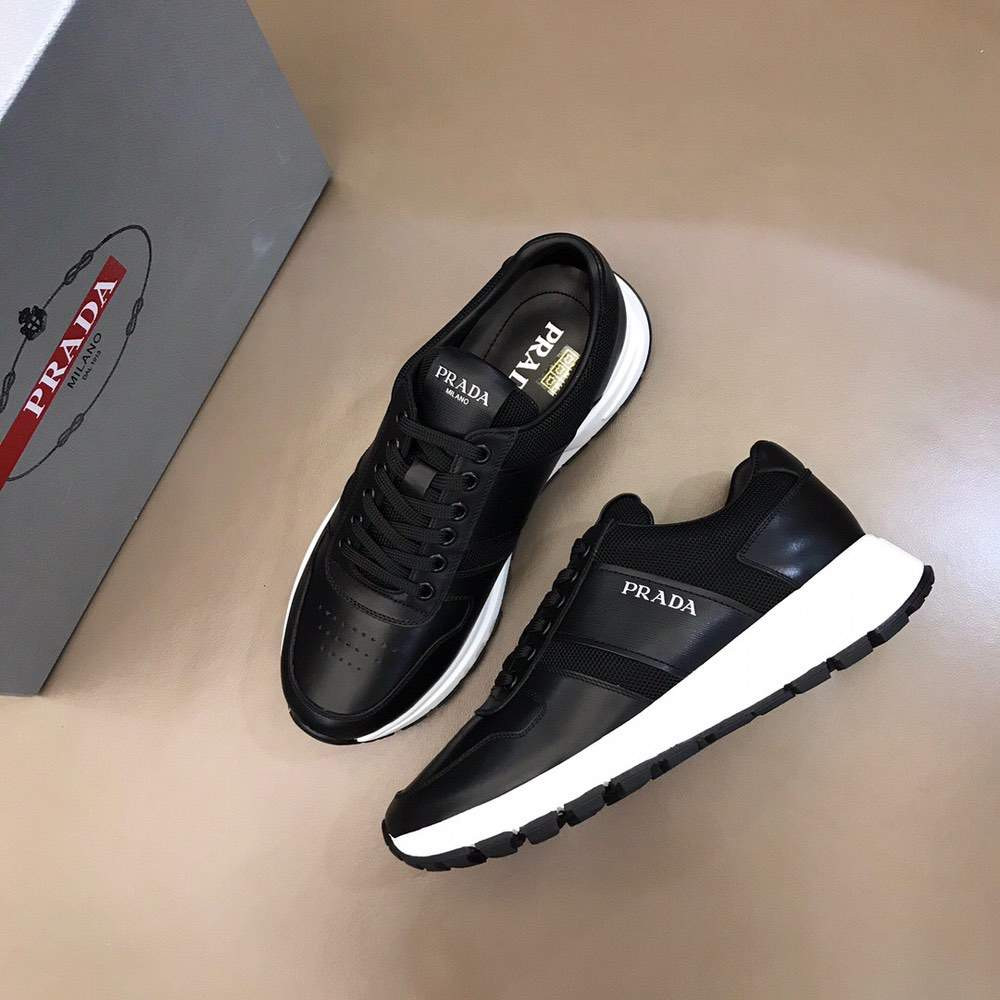 Кроссовки Prax 01 Leather And Technical Fabric Sneakers Alt Black