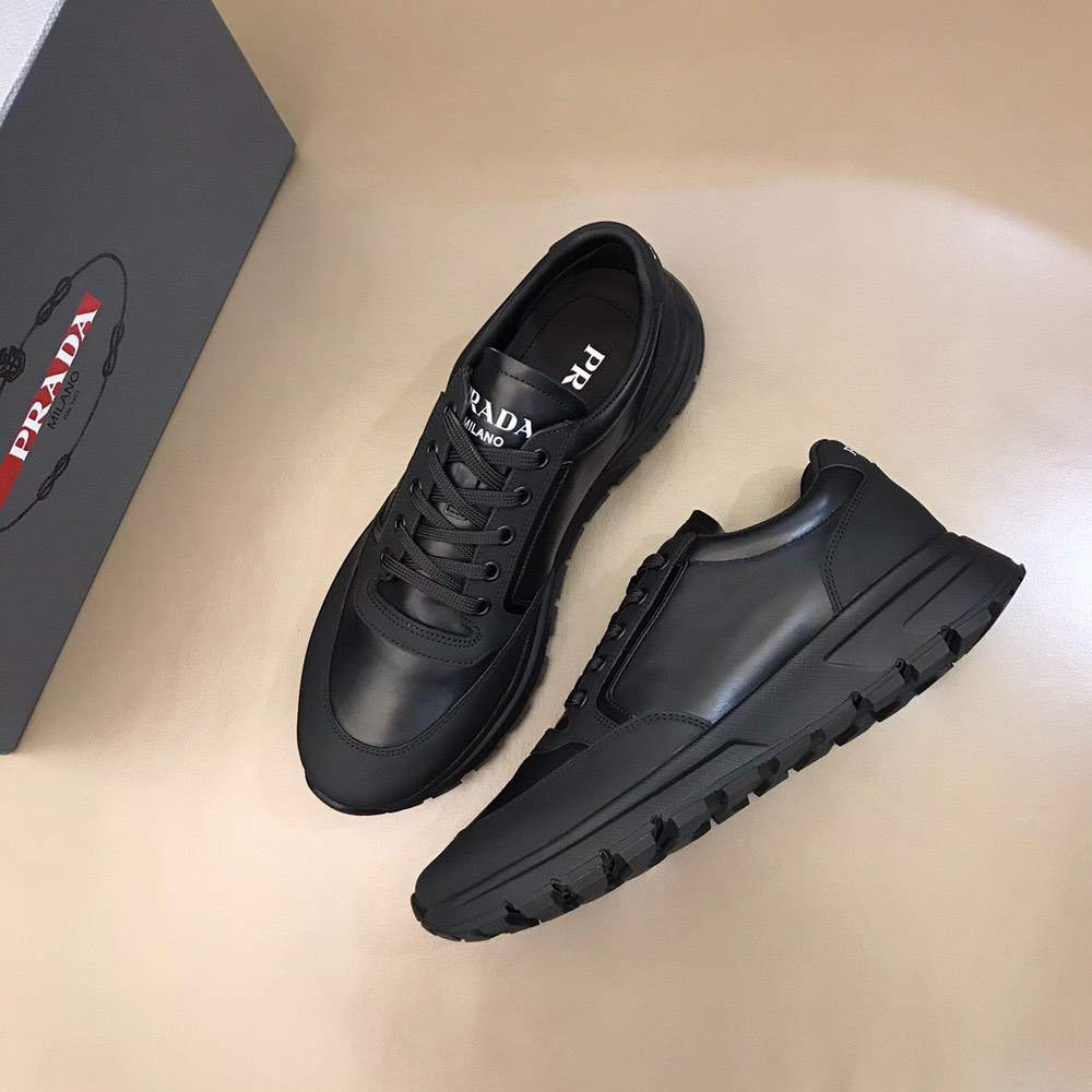 Кроссовки Prax 01 Leather And Technical Fabric Sneakers Black