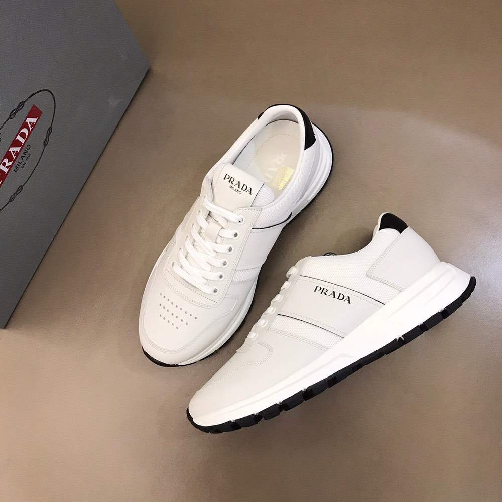 Кроссовки Prax 01 Leather And Technical Fabric Sneakers White