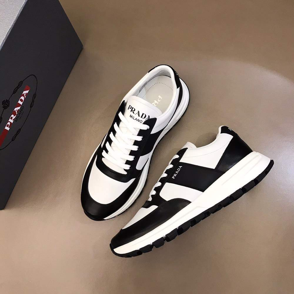 Кроссовки Prax 01 Leather and nylon sneakers