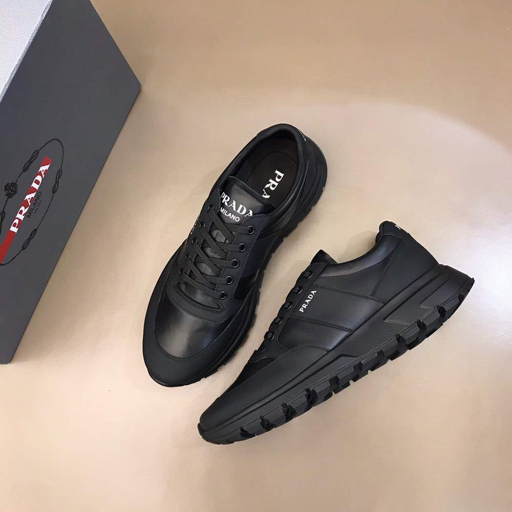 Кроссовки Prax 01 Leather and nylon sneakers Solo