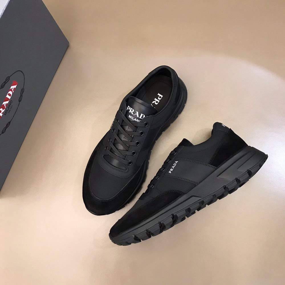 Кроссовки Prax 01 Leather and nylon sneakers Trio