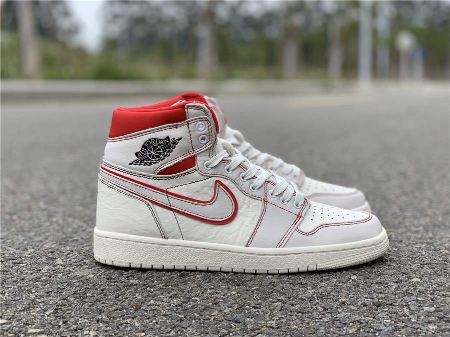 Кроссовки Air Jordan 1 Retro High OG Sail Red