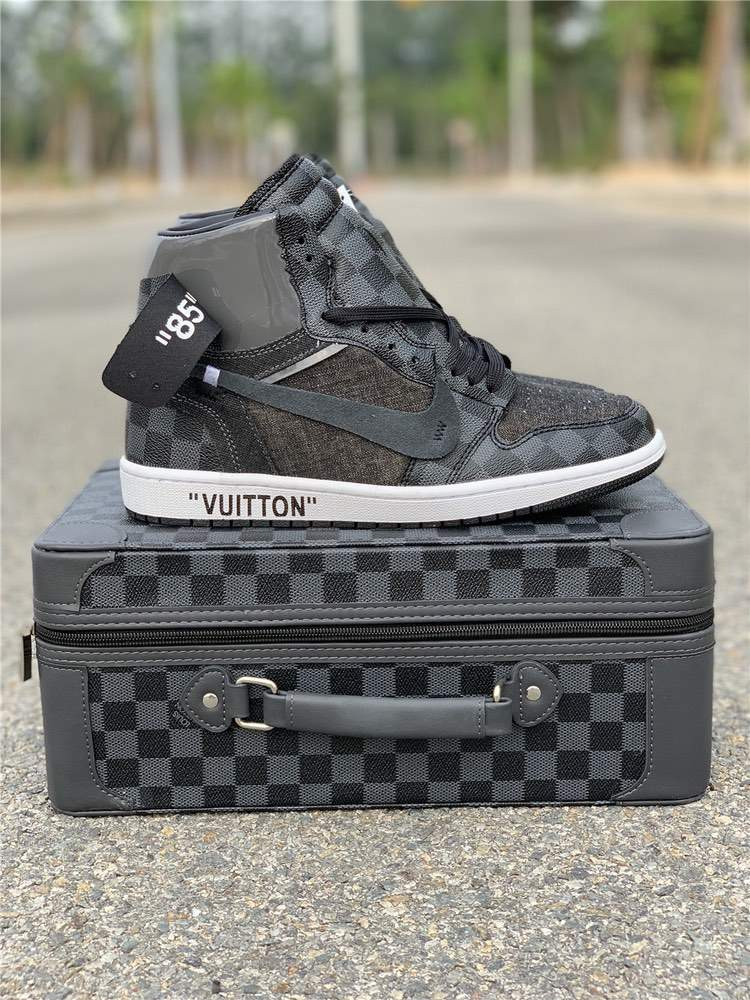 Кроссовки Air Jordan 1 Gray x LV x OFF-WHITE