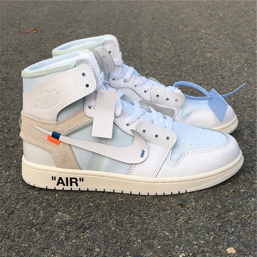 Кроссовки Air Jordan 1 White x Off White