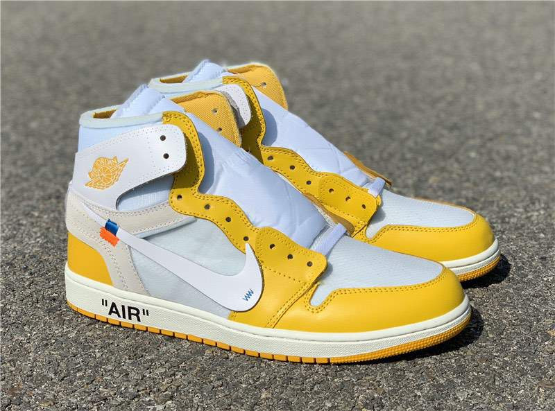 Кроссовки Air Jordan 1 Yellow x Off White