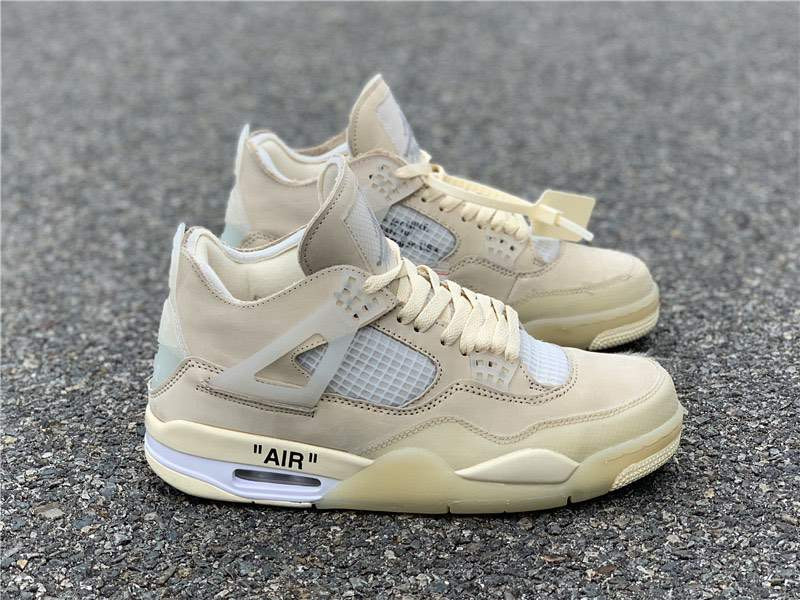 Кроссовки Air Jordan 4 Sail x Off-White