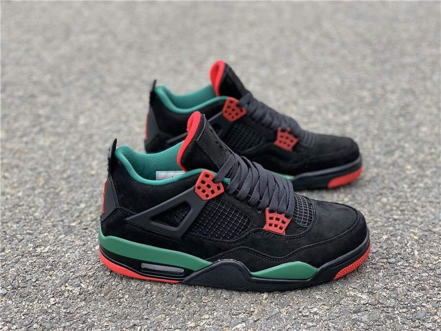 Кроссовки Air Jordan 4 Green Red