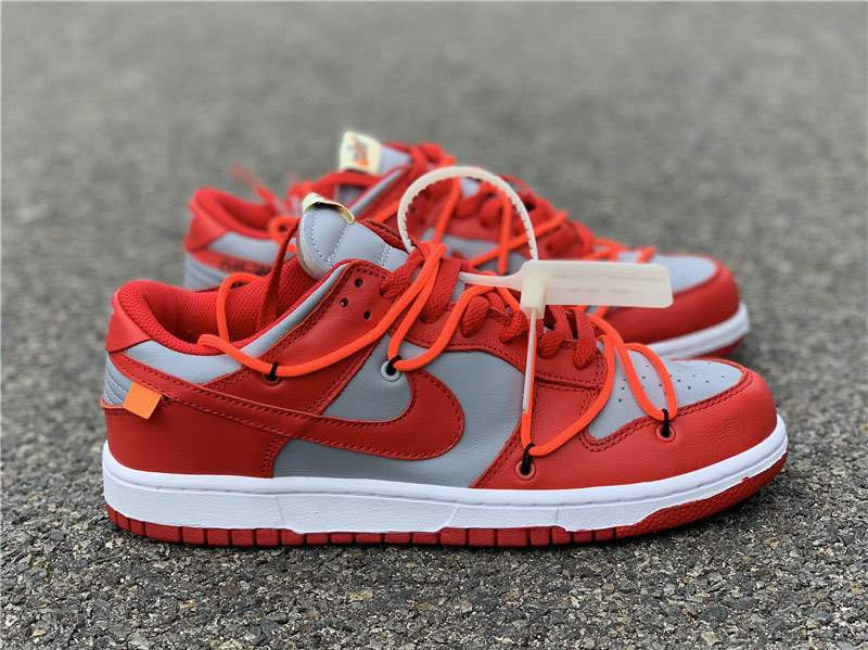 Кроссовки Dunk Low Red White x Off-White