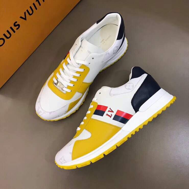 Мужские кроссовки Louis Vuitton Jockey Yellow Black